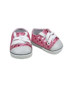 Love this Pink Glitter Sneaker for 18'' Doll on #zulily! #zulilyfinds