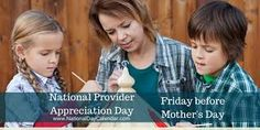 National Provider Appreciation Day Friday Before Mother's Day Military Spouse Quotes, Spouse Tattoos, Fibromyalgia Awareness Day, Crepe Suzette, National Nurses Day, National Day Calendar, What Day Is It, Childcare, Appreciation