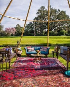 Nothing compliments a naked tipi better than a colorful lounge set up! Bohemian Wedding Decorations, Garden Party Decorations, Bohemian Decor, Wedding Trends, Wedding Styles, Wedding Ideas, Colourful Lounge, Colorful, Wedding Hire