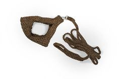Crochet cat harness with leash Small pet harnes Brown stylish