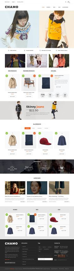 Chamo is Responsive 6 in 1 Prestashop theme for multipurpose eCommerce #website. #dress #shop Download Now!