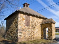 This ice house is easily recognizable to those travelling along North George Street in East Manchester Township, York County, Pennsylvania.