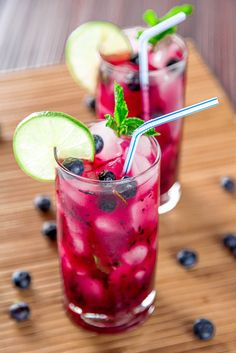 Blueberry Mojito: Cool off this summer with sweet blueberries, tart limes, and a refreshing splash of rum.