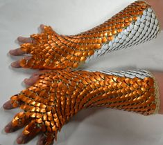 Items similar to Dragonhide Scale armor gauntlets with half fingers Custom made to order on Etsy Dragon Scale Armor, Fairy Tale Crafts, Scale Mail, Armor Clothing, Dragon Costume, Fantasy Armor, Super Hero Costumes, Fursuit, Character Outfits