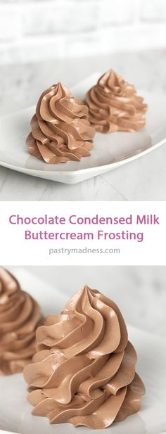 This Chocolate Condensed Milk Frosting is a simple and easy way to make a silky sweet frosting with only three ingredients! Condensed Milk Frosting Recipe, Milk Chocolate Frosting Recipe, Chocolate Filling For Cake, Condensed Milk Desserts, Sweet Condensed Milk, Easy Chocolate Desserts, Chocolate Decorations For Cake, Cup Desserts, Homemade Frosting