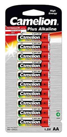 Camelion 11001006 Plus Alkaline Batterie (LR6, Mignon, AA, 10er): Price:4.99Pack de 10 piles Camelion Alcaline LR6 Mignon AAPack de 10…