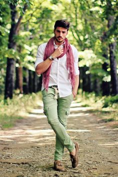 Italian colors, summer scarves cargo pants.