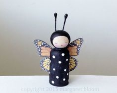 we bloom here: tutorial :: monarch butterfly peg doll