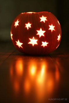 DIY Pumpkin Lantern with Stars | Hungry Heart