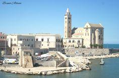 Una panoramica del Duomo romanico di #Trani, città della #Puglia davvero carina.