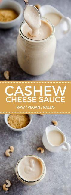 Cashew Cheese Sauce More You are in the right place about Vegan Recipes thanksgiving Here we offer you the most beautiful pictures about the Vegan Recipes soup you are looking for. When you examine the Cashew Cheese Sauce . Vegan Sauces, Raw Vegan Recipes, Vegan Foods, Vegan Dishes, Dairy Free Recipes, Paleo Diet, Healthy Recipes, Paleo Vegan, Vegan Ideas