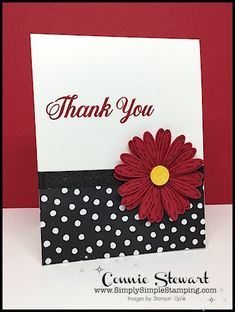 Make It Monday Tutorial - Thank You Daisy card - download the FREE tutorial at www.SimplySimpleStamping.com - look for the April 23, 2018 blog post!