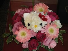 Cat Flower Arrangements | Kawaii Hello Kitty Flower Arrangement: Strictly for fans of this ...