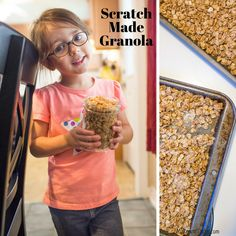 Scratch Made Granola to make with your little kitchen helper.  Bake with your kids