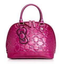 Absolute purrrfection - Hello Kitty glitter embossed handbag