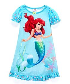 Look at this #zulilyfind! Disney Blue Ariel Ruffle Nightgown - Toddler by Disney #zulilyfinds