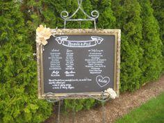 Custom Wedding Ceremony Chalkboard by TheGoodLifebyKatie on Etsy, $125.00