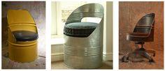 O Lado de Cá: Barril de ferro (tambor de metal) reciclado