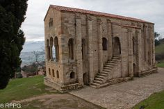Santa Maria del Naranco. Oviedo. Asturias, PREROMANICO ASTURIANO   Flickr - Photo Sharing! It was built as part of a royal palace and it was completed in 848. It was converted into a church aat the end of the 13th-century.