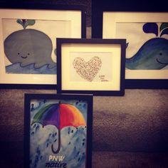 Water color paintings of Aaron's favorite things