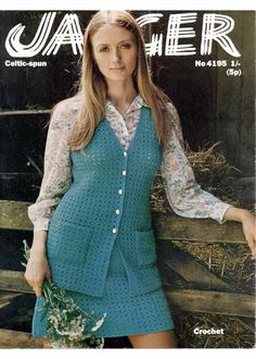 b7dbd8c1f67 Bellmans 1234 retro ladies waistcoat vintage knitting pattern ...