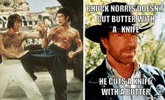 Internet meme, conservative political activist, Bruce Lee victim, chest hair legend, these are just some of the ways we know Chuck Norris. Before all that, Norris was a real-life championship Karate athlete. Norris was already pursuing an acting career at that time, but didn't become well known until Bruce Lee put Norris in the villain role in the film Return of the Dragon in 1972.
