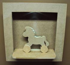 Luartebaby Artesanato: Nicho quarto bebe com led e cavalinho decoração qu...