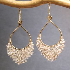 Wire Wrapped Jewelry, Beaded Jewelry, Silver Jewelry, Silver Ring, Jewellery, Gothic Jewelry, Bead Earrings, Chandelier Earrings, Silver Earrings