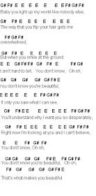 Flute Sheet Music What Makes You Beautiful One Direction