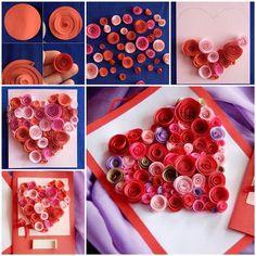 DIY, diy image, diy jewlery, diy crafts, diy photo, diy picture http://www.womans-heaven.com/diy-paper-swirls-heart-shaped-card/