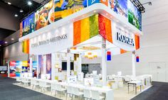 Exhibition Booth Design, Exhibition Stands, Exhibit Design, Stand Feria, Pavilion, Projects To Try, Korea Style, Office Designs, Pos