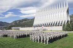 Air Force Academy...if your in the Colorado Springs area...this is a must visit. The chapel and football stadium are awesome to see when visiting. Made me want to attend...then saw ACT requirements...not so much in attending after that...lol