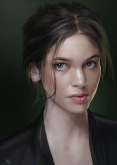 ArtStation - Drawing practice of the female head, Zu Yu Female Face Drawing, Realistic Eye Drawing, Human Figure Drawing, Drawing Practice, Fantasy Portraits, Character Portraits, Character Art, Female Head, Female Art