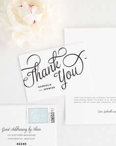 Make a statement with these bold script wedding invitations. Romantic and chic, this unique design will make an unforgettable impression. Shown in black ink wi Wedding Dance Songs, Wedding To Do List, Stationery Paper, Envelope Liners, Wedding Thank You Cards, Thoughtful Gifts, Color Show, Letterpress, Script