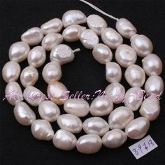"[EBay] 5-7/8-9/9-10/10-11Mm White Potato Natural Freshwater Pearl Beads Strand 14.5"" For Diy Necklace Jewelry Making Free Shipping"