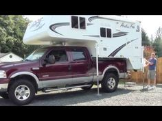 How to load a truck camper onto a pickup truck - YouTube