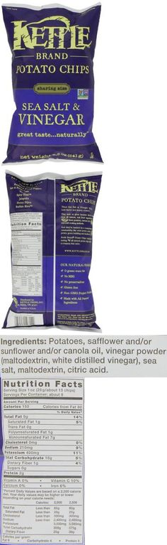 Chips 179179: Kettle Brand Potato Chips Sea Salt And Vinegar 8.5 Ounce Pack Of 12 -> BUY IT NOW ONLY: $41.3 on eBay!