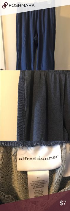Blue Lounge Pants (2/$5 item) Super comfortable and soft. Elastic waistband. Excellent condition. Bundle with another $4 item and I'll give you both for $5! Alfred Dunner Pants