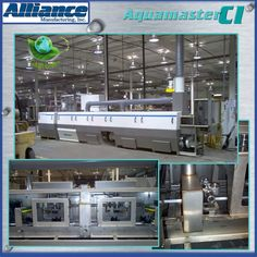 An Aquamaster CC-1800X engineered for the cleaning of aluminum rack and pinion housings.Comprised of four process modules that include: wash, intermediate blowoff, rinse, regenerative blowoff and cooling chambers.