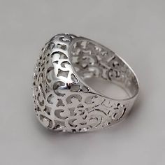 Sterling Silver Lace Ring  Handmade Sterling by toolisjewelry, $75.00