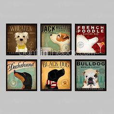 Animal Framed Canvas / Framed Set Wall Art,PVC Black No Mat With Frame Wall Art - GBP £95.19