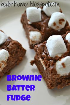 Kristins kNook -a blog of food & thought: Brownie Batter Fudge