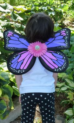 Fairy Finery Monarch Butterfly Wings in Purple Power - $26.00 - #fairyfinery #fairywings #flowerpower #costumefun #madeintheusa