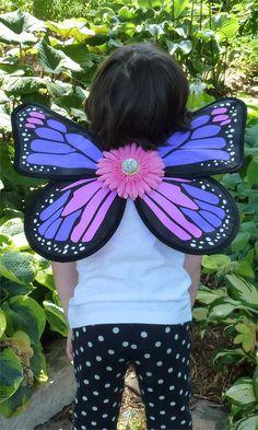 Fairy Finery Monarch Butterfly Wings in Purple Power - $26.00 - #fairyfinery #fairywings #flowerpower #costumefun #madeintheusa