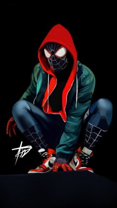 Spider man Miles Morales Into the spider verse marvel ultimate Noir Spiderman, Spiderman Tattoo, Black Spiderman, Spiderman Spider, Amazing Spiderman, Hulk Marvel, Marvel Dc Comics, Marvel Ultimate Spider Man, Spiderman Pictures