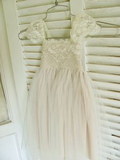 Magic Orchid French lace and silk tulle dress by AngelikasBoutique