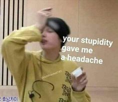 """""""You have a girlfriend?"""" When Min Sora met a strange guy by a single text, read to find out their interesting story of memes! Bts Memes Hilarious, Cute Memes, Stupid Memes, Bts Meme Faces, Memes Funny Faces, Memes Chinos, K Meme, Meme Guy, Text Memes"""