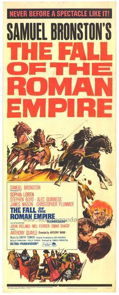 The Fall of the Roman Empire (starring Sophia Loren, Stephen Boyd, Alec Guinness, James Mason, and Christopher Plummer)