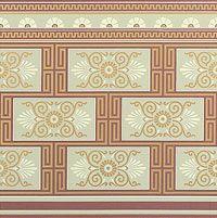 Victorian Art Wallpapers | Green Neo-Grec Sample Kit | Bradbury & Bradbury