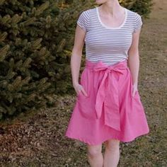 DIY Summer Dress (tank dress) from repurposed tank or t-shirt and some fabric. Thinking this is my pattern for buddies bachelorette party!